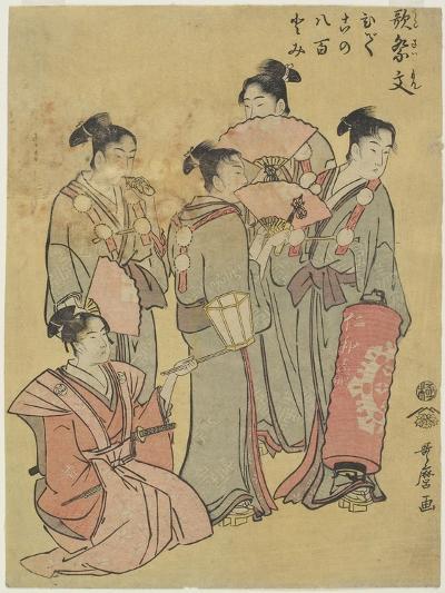Group Singers, 1781-1806-Kitagawa Utamaro-Giclee Print
