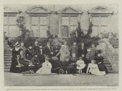Group Taken on the Occasion of the Golden Wedding of Sir Spencer and Lady Ponsonby-Fane--Giclee Print