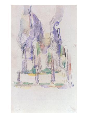 Groupe d'Arbres, c.1895-1900-Paul C?zanne-Giclee Print