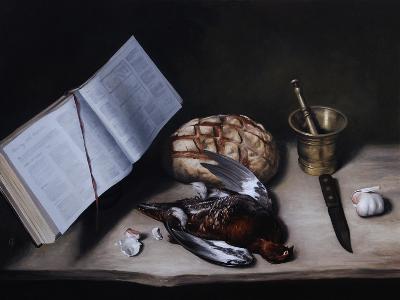 Grouse, Pestle and Mortar and Knife, 2008-James Gillick-Giclee Print