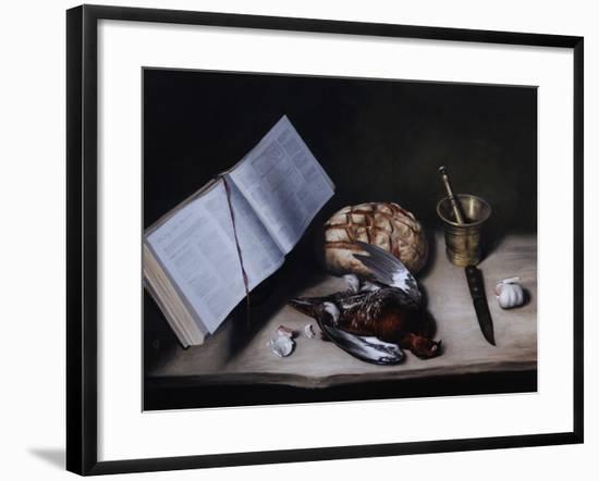 Grouse, Pestle and Mortar and Knife, 2008-James Gillick-Framed Giclee Print