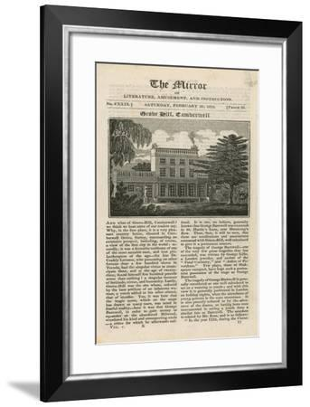 Grove Hill in Camberwell--Framed Giclee Print