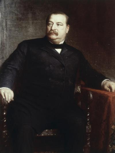 Grover Cleveland, (President 1885-1889)-Eastman Johnson-Giclee Print