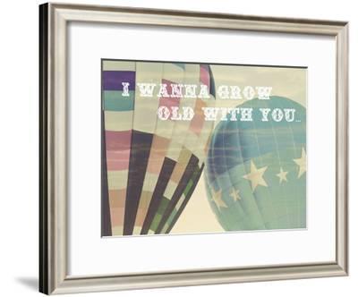 Grow Old Balloons-Ashley Davis-Framed Art Print