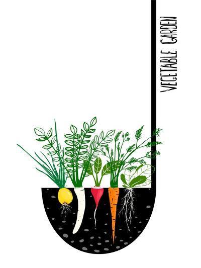 Grow Vegetable Garden and Cook Soup. Raster Variant.-Popmarleo-Art Print