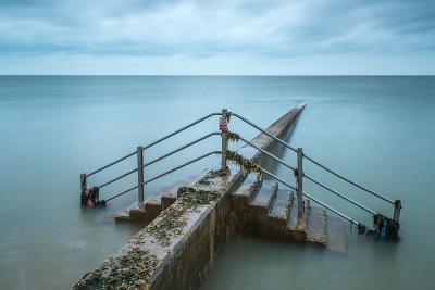 Groyne at Minnis Bay in Kent-Michael Fenton-Photographic Print
