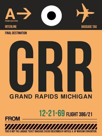 GRR Grand Rapids Luggage Tag I-NaxArt-Art Print