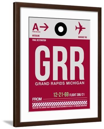 GRR Grand Rapids Luggage Tag II-NaxArt-Framed Art Print