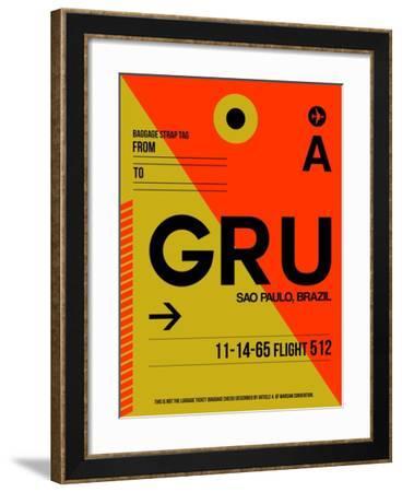 GRU Sao Paulo Luggage Tag II-NaxArt-Framed Art Print