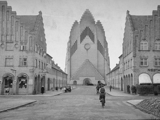 Grundtvig Church in the City of Copenhagen--Photographic Print