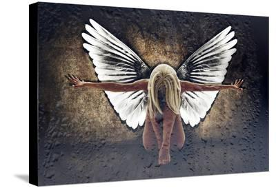 Grunge Angel II-Chris Kape-Stretched Canvas Print