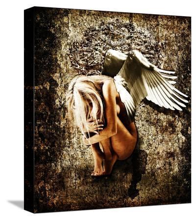 Grunge Angel-Chris Kape-Stretched Canvas Print