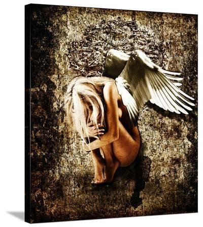 Grunge Angel-Chris Kape-Stretched Canvas Print