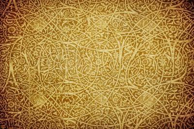 Grunge Background With Oriental Ornaments-javarman-Art Print
