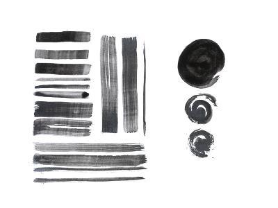 Grunge Brush Strokes-fify-Art Print