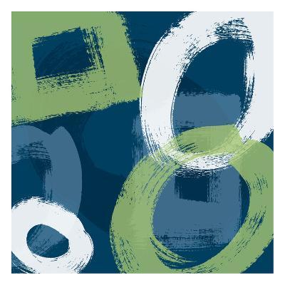 Grunge Circles 1-Carole Stevens-Art Print