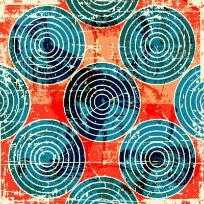 Grunge Circles Poster-Nik Merkulov-Art Print