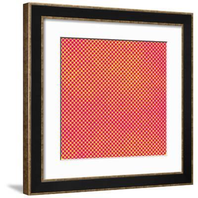 Grunge Halftone Background. Halftone Dots Vector Texture.- Monika7-Framed Premium Giclee Print