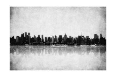 Grunge Image Of New York Skyline-javarman-Art Print
