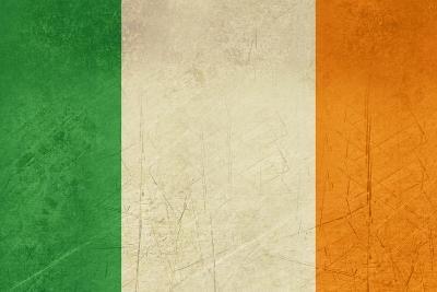 Grunge Officall Flag Of The Irish Tricolor, Republic Of Ireland-Speedfighter-Art Print