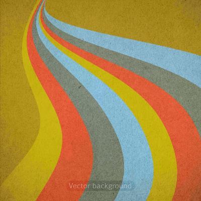 Grunge Retro Vector Background-LeksusTuss-Art Print