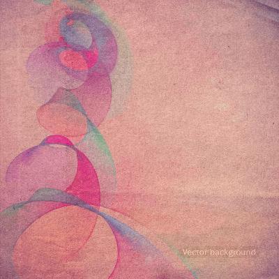 Grunge Retro Vintage Paper Texture, Vector Background-LeksusTuss-Art Print
