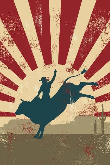 Grunge Rodeo Poster,Vector-Seita-Art Print