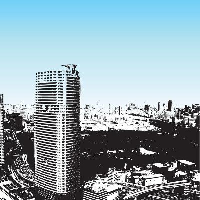 Grunge Style Skyscrapers-JENNY SOLOMON-Art Print