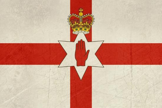 Grunge Ulster Flag Of Northern Ireland Illustration, Isolated On White Background-Speedfighter-Art Print