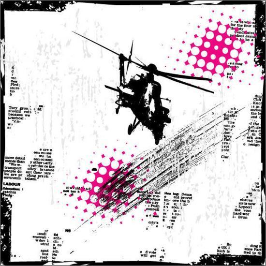 Grunge Vector Background Illustration-elanur us-Art Print