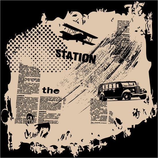 Grunge Vector Background-elanur us-Art Print