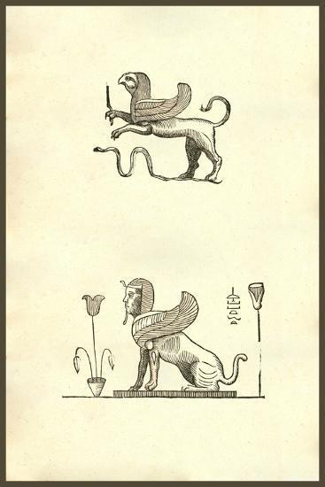 Gryphis (Griffin)-Ulisse Aldrovandi-Art Print