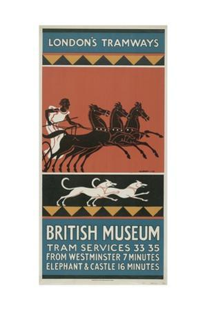 British Museum, London County Council (LC) Tramways Poster, 1927