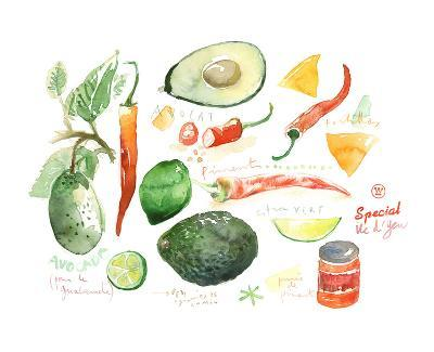 Guacamole Recipe-Lucile Prache-Art Print