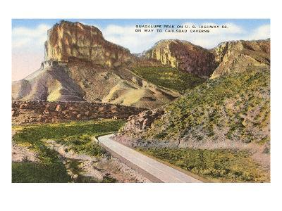 Guadalupe Peak, Carlsbad Caverns, New Mexico--Art Print