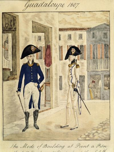 Guadeloupe, Officer of 66 Infantry Regiment, 1807--Giclee Print