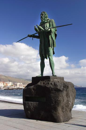 Guanche Statue, Candelaria, Tenerife, 2007-Peter Thompson-Photographic Print