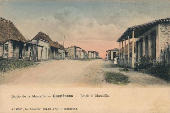 'Guantanamo - Block of Maravilla', c1910-Unknown-Giclee Print