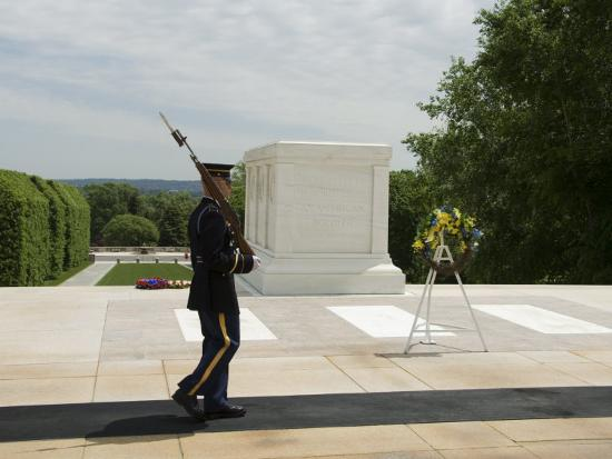 Guard at the Tomb of the Unknown Soldier, Arlington National Cemetery, Arlington, Virginia, USA-Robert Harding-Photographic Print
