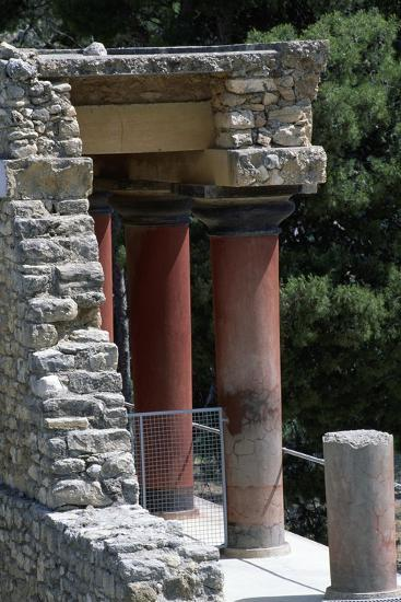 Guard Tower, Palace of Knossos, Crete, Greece, 16th Century BC--Giclee Print
