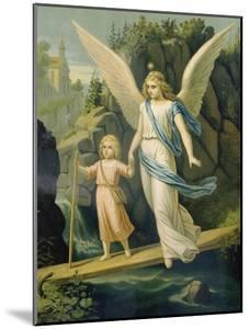 Guardian Angel Accompanying a Child over a Bridge, about 1900