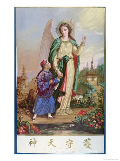 Guardian Angel, Religious Imagery For the Chinese Market--Giclee Print
