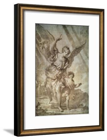 Guardian Angel-Domenico Piola-Framed Art Print