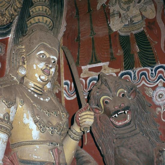 Guardian deities at the doorway of a Buddhist temple, 16th century. Artist: Unknown-Unknown-Giclee Print