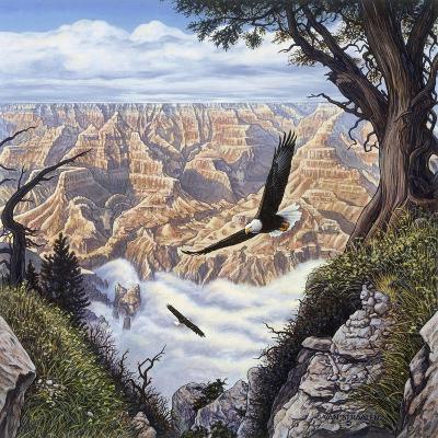 Guardians of the Canyon-John Van Straalen-Giclee Print