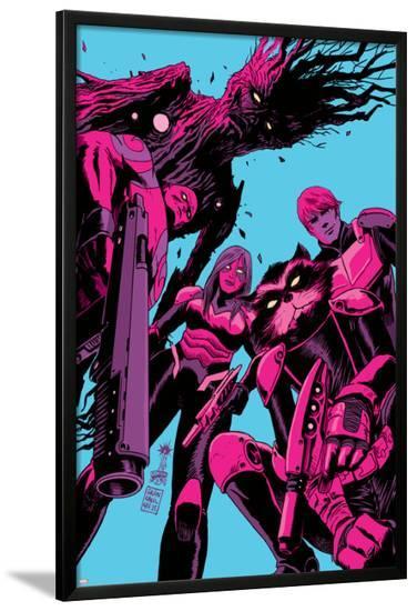 Guardians of the Galaxy #8 Cover: Groot, Drax, Gamora, Rocket Raccoon, Star-Lord-Francesco Francavilla-Lamina Framed Poster