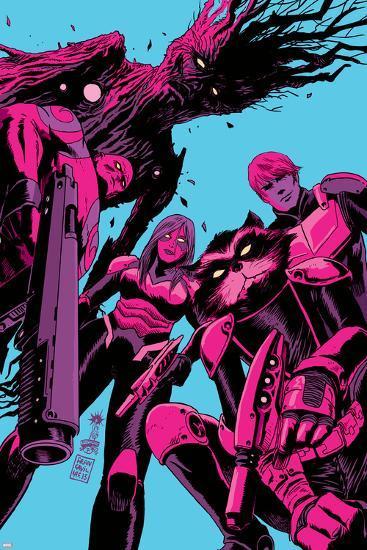 Guardians of the Galaxy #8 Cover: Groot, Drax, Gamora, Rocket Raccoon, Star-Lord-Francesco Francavilla-Art Print
