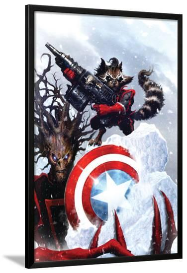 Guardians Of The Galaxy No.2 Cover: Rocket Raccoon and Groot--Lamina Framed Poster