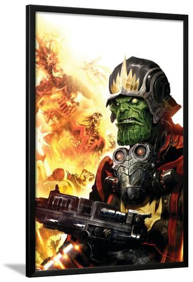 Guardians Of The Galaxy No.4 Cover: Marvel Universe-Clint Langley-Lamina Framed Poster