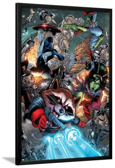 Guardians Of The Galaxy No.8 Group: Rocket Raccoon, Major Victory, Bug and Mantis-Brad Walker-Lamina Framed Poster